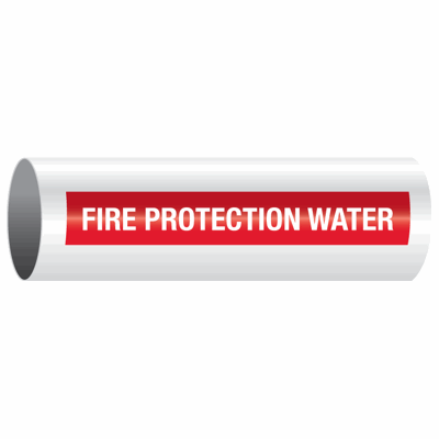Opti-Code™ Self-Adhesive Pipe Markers - Fire Protection Water