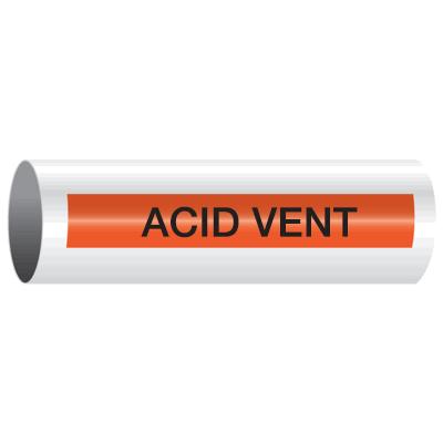 Opti-Code™ Self-Adhesive Pipe Markers - Acid Vent