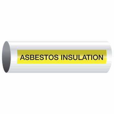 Opti-Code™ Self-Adhesive Pipe Markers - Asbestos Insulation