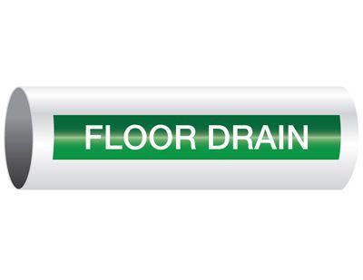 Floor Drain - Opti-Code® Pipe Markers