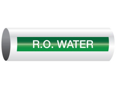 R.O. Water - Opti-Code® Pipe Markers