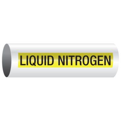 Opti-Code® Pipe Markers - Liquid Nitrogen