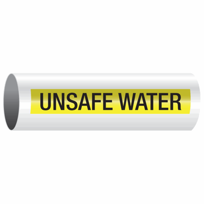 Opti-Code™ Self-Adhesive Pipe Markers - Unsafe Water