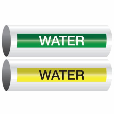 Opti-Code™ Self-Adhesive Pipe Markers - Water
