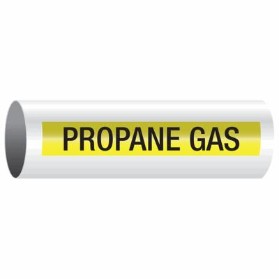 Opti-Code™ Self-Adhesive Pipe Markers - Propane Gas