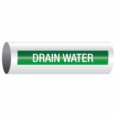 Opti-Code™ Self-Adhesive Pipe Markers - Drain Water