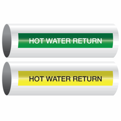 Opti-Code™ Self-Adhesive Pipe Markers - Hot Water Return
