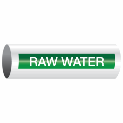 Opti-Code™ Self-Adhesive Pipe Markers - Raw Water