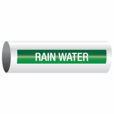 Opti-Code™ Self-Adhesive Pipe Markers - Rain Water