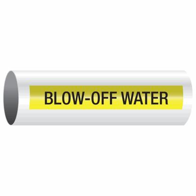 Opti-Code™ Self-Adhesive Pipe Markers - Blow-Off Water