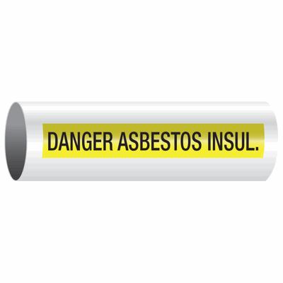 Opti-Code™ Self-Adhesive Pipe Markers - Danger Asbestos Insul.