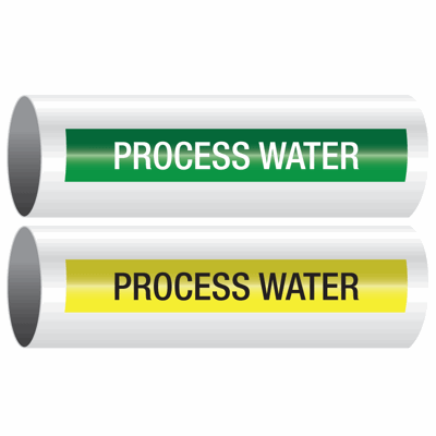 Opti-Code™ Self-Adhesive Pipe Markers - Process Water
