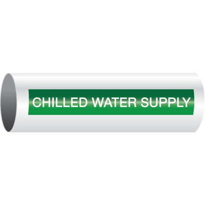 Opti-Code™ Self-Adhesive Pipe Markers - Chilled Water Supply
