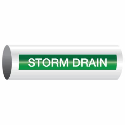 Opti-Code™ Self-Adhesive Pipe Markers - Storm Drain