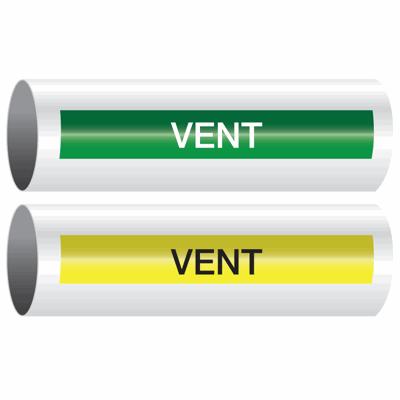 Opti-Code™ Self-Adhesive Pipe Markers - Vent