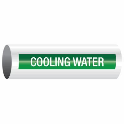 Opti-Code™ Self-Adhesive Pipe Markers - Cooling Water