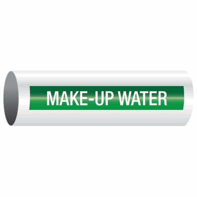 Opti-Code™ Self-Adhesive Pipe Markers - Make-Up Water