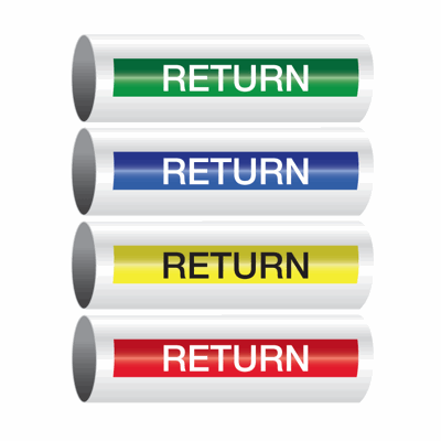 Opti-Code™ Self-Adhesive Pipe Markers - Return