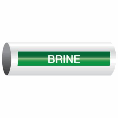 Opti-Code™ Self-Adhesive Pipe Markers - Brine