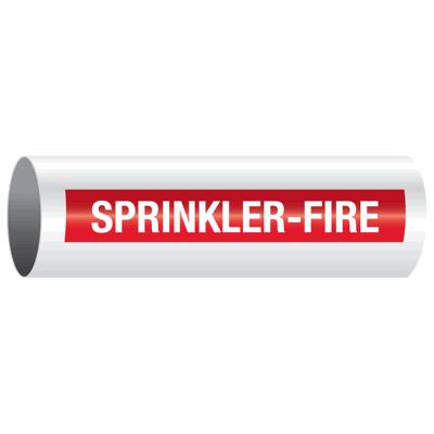 Opti-Code™ Self-Adhesive Pipe Markers - Sprinkler-Fire