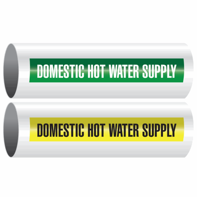 Opti-Code™ Self-Adhesive Pipe Markers - Domestic Hot Water Supply