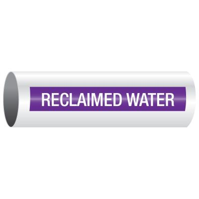 Opti-Code™ Pipe Markers - Reclaimed Water