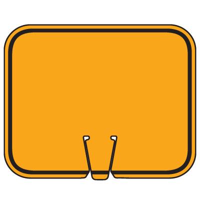 Blank Traffic Cone Signs - Orange