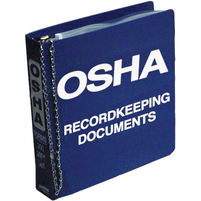 OSHA 300 Record Keeping Document Binder