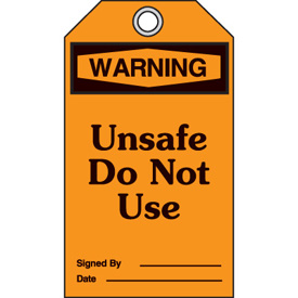 OSHA Safety Tags - Warning Unsafe Do Not Use