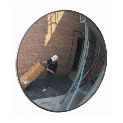 Outdoor Acrylic Convex Mirror, Telescopic Bracket
