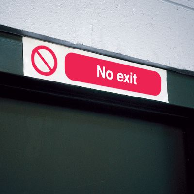 Overhead Sign - No Exit