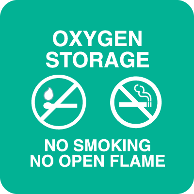 Oxygen Storage No Smoking Optima Policy Signs