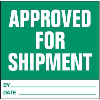 Approved For Shipment Handling Label