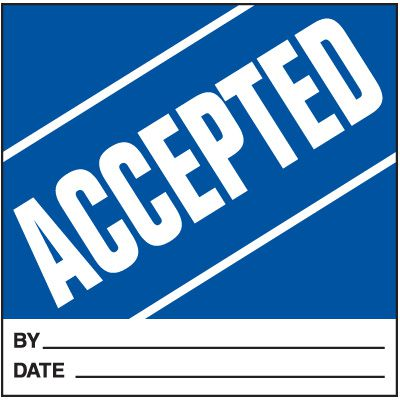 Accepted Handling Label