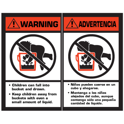 Warning Drowning Package Handling Label