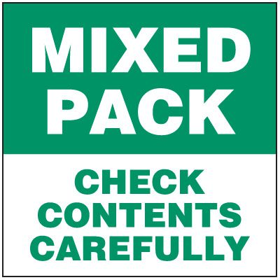 Mixed Pack Package Handling Label