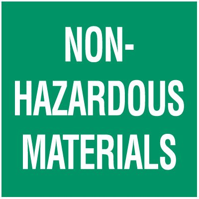 Non-Hazardous Materials Package Handling Label