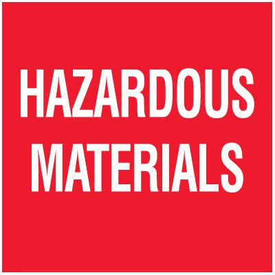 Hazardous Materials Package Handling Label