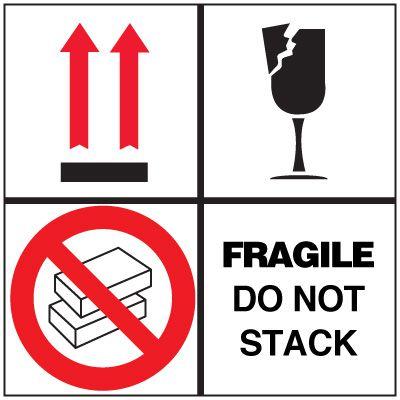 Fragile Do Not Stack Package Handling Label