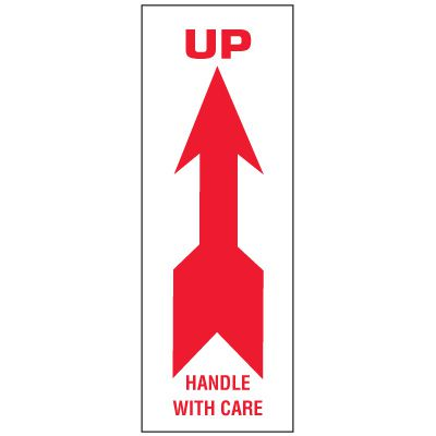 Up Package Handling Label