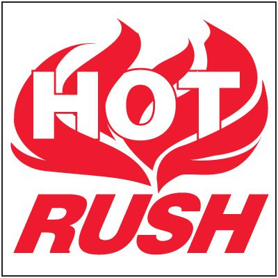 Hot Rush Package Handling Label