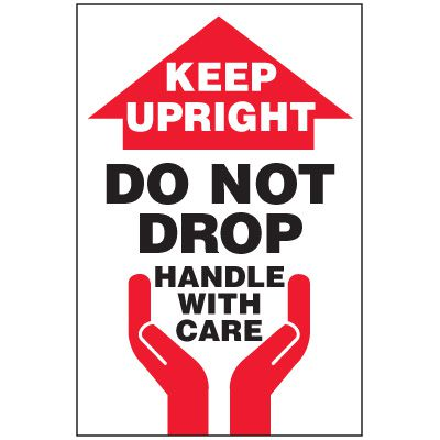 Keep Upright Package Handling Label