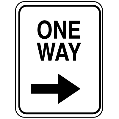 Parking Lot Signs - One Way