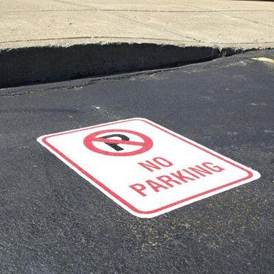 Pavement Message Signs - No Parking