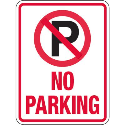 Pavement Message Signs - No Parking