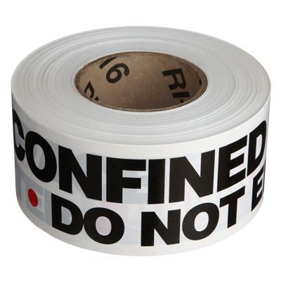 Confined Space Barricade Tape - Danger Confined Space Do Not Enter