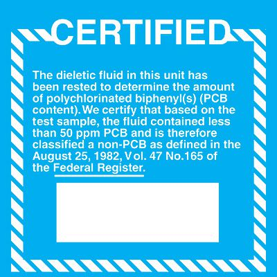 PCB Labels - Certified
