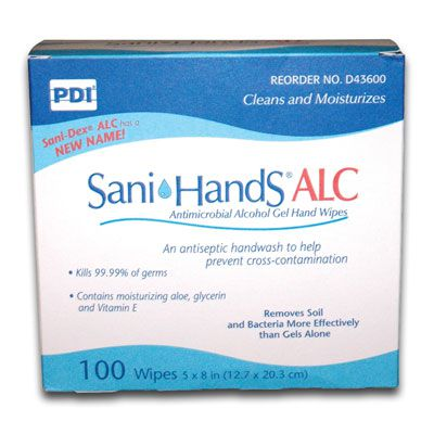 PDI PDI Sani-Hands Antimicrobial Alcohol Gel Hand Wipes D43600