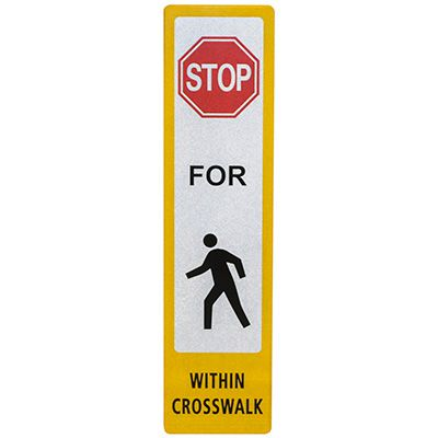 Pedestrian Crossing Decal-Stop