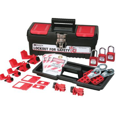 Brady Personal Breaker Lockout Kit w/ 3 Keyed Alike Safety Padlocks - Part Number - 105964 - 1/Kit